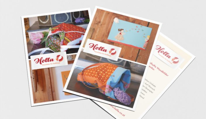 Folder Gestaltung · Holla
