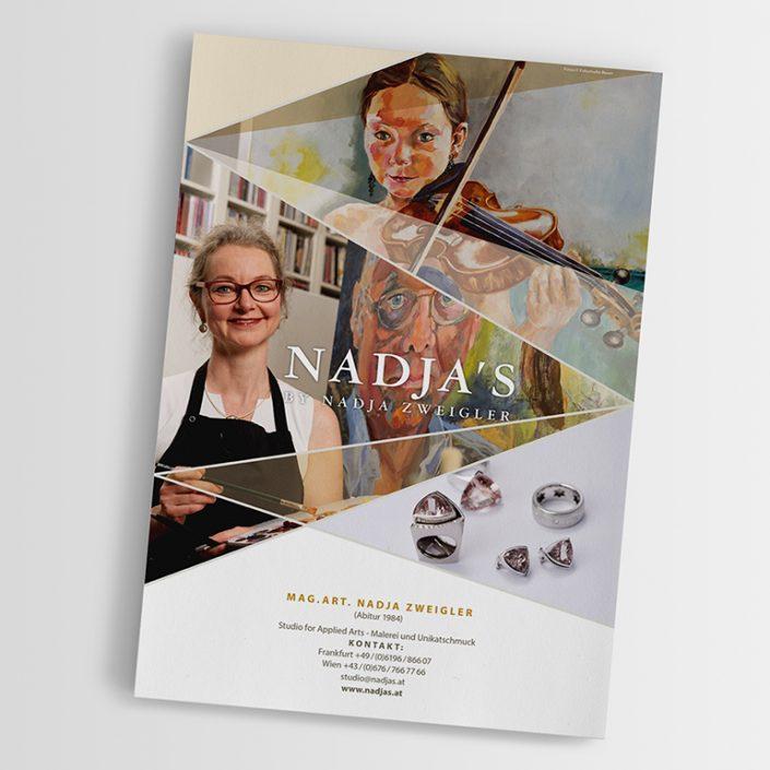 Flyer und Visitkarten gestalten · Nadja's