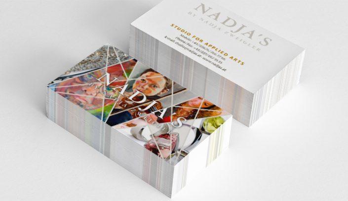 Flyer und Visitkarten · Nadja's